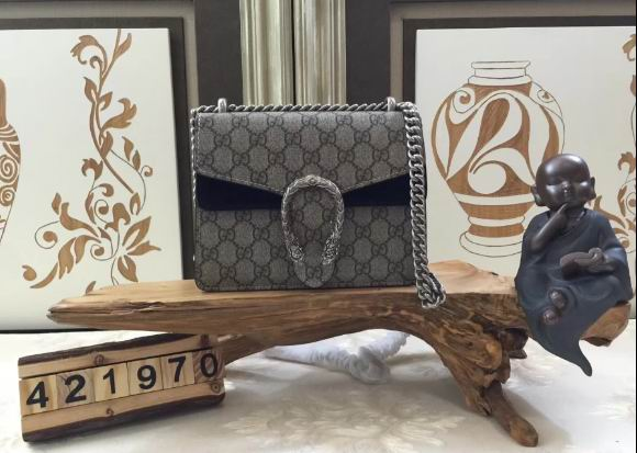 Gucci Dionysus GG Supreme Mini shoulder bag black