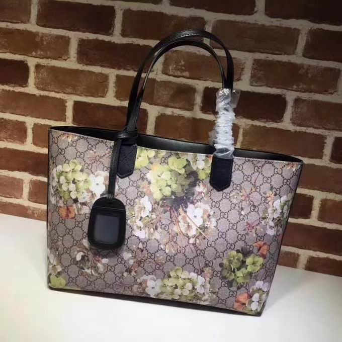 Gucci Soft GG Green Blooms tote