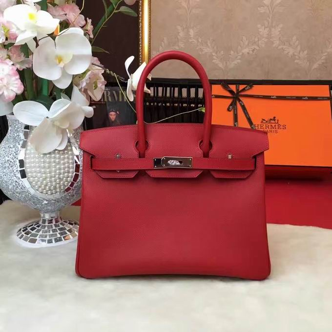 HERMES EPSOM BIRKIN BAG IN RED