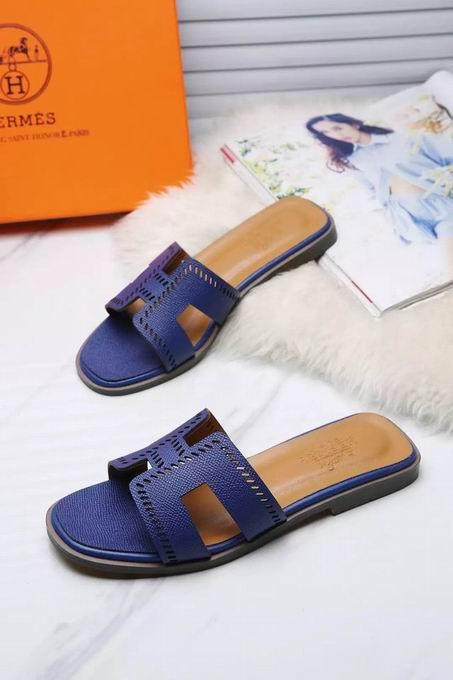Hermes Oran sandal blue