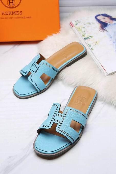 Hermes Oran sandal light blue