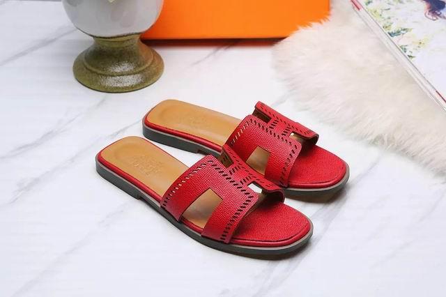 Hermes Oran sandal red