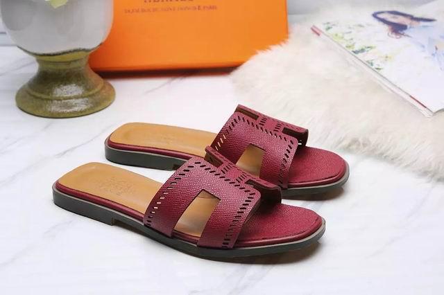 Hermes Oran sandal wine