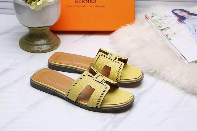 Hermes Oran sandal yellow