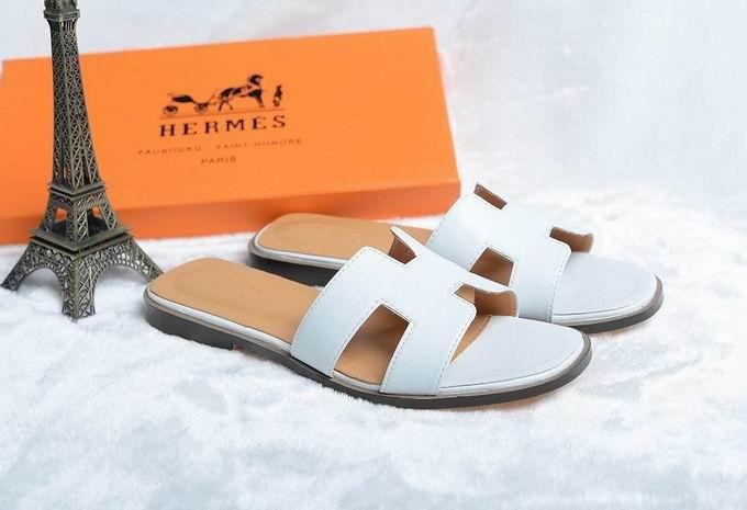 Hermes Oran sandal white