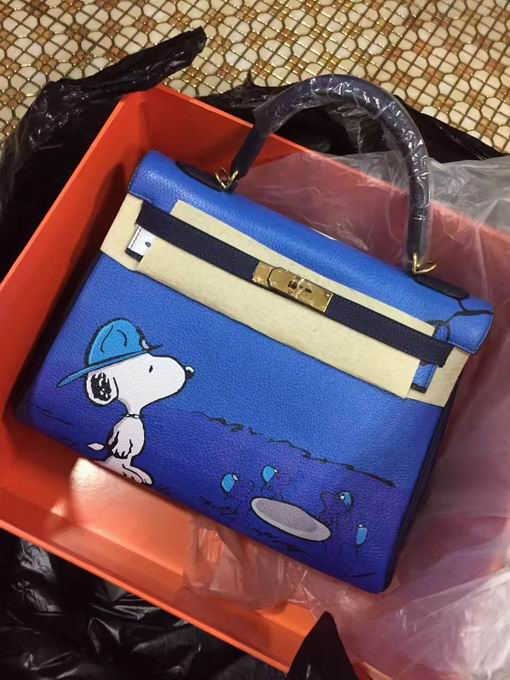 HERMES EPSOM KELLY BAGS with snoopy