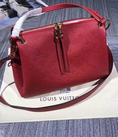 Louis Vuitton Embossed supple cowhide and smooth supple cowhide PONTHIEU PM Red