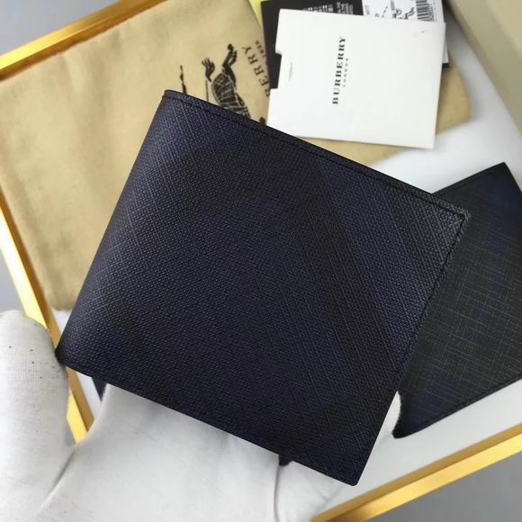 Burberry London Check International Bifold Wallet black& blue