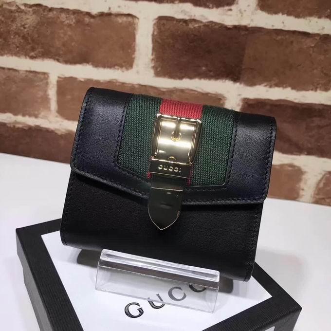 Gucci Sylvie leather wallet black