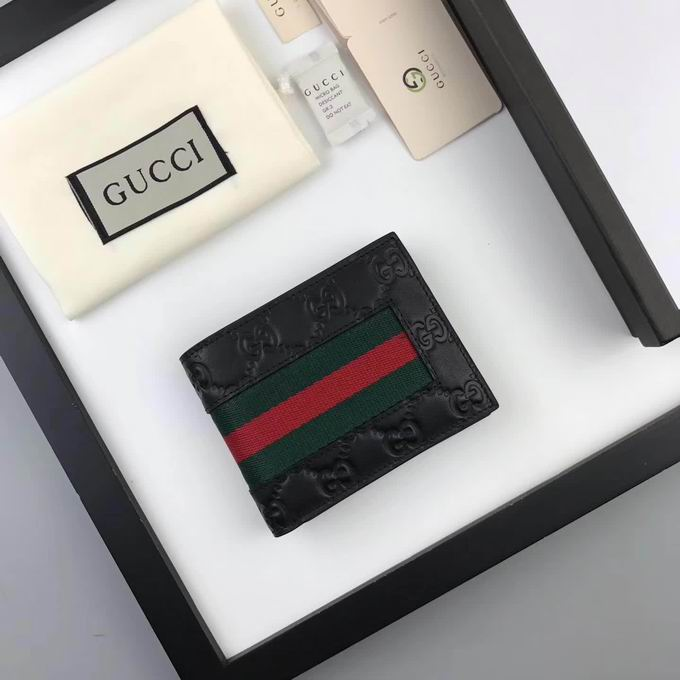 Gucci Signature Web wallet black