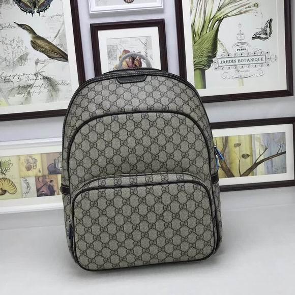 Gucci GG Supreme backpack brown