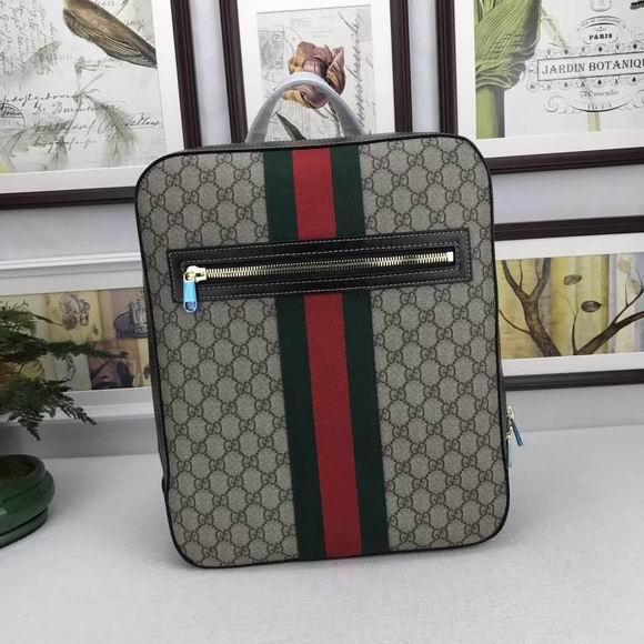 Gucci GG Supreme backpack coffee