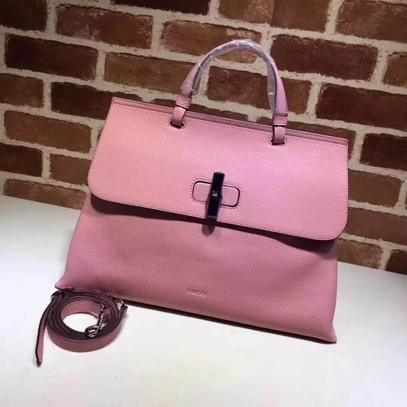Gucci leather handle bag pink