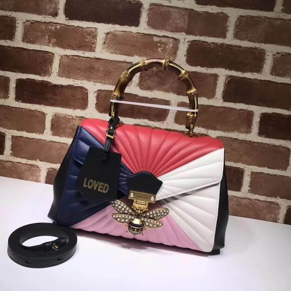 Gucci Queen Margaret medium top handle bag multicolor quilted leather