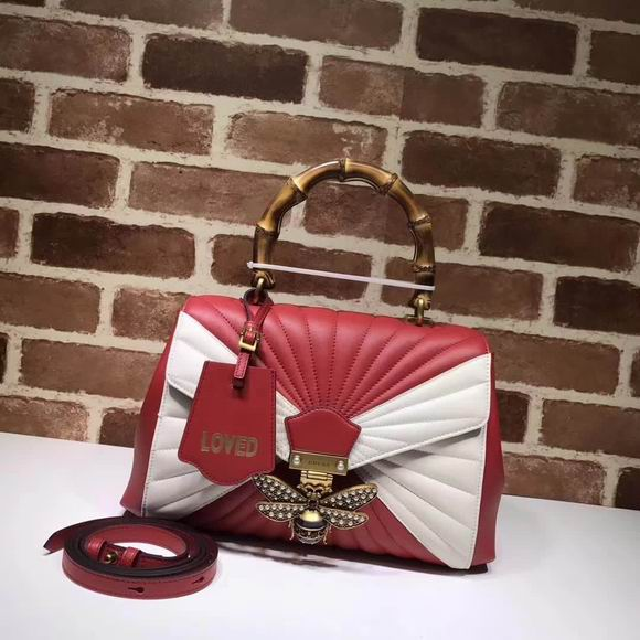 Gucci Queen Margaret medium top handle bag red & white