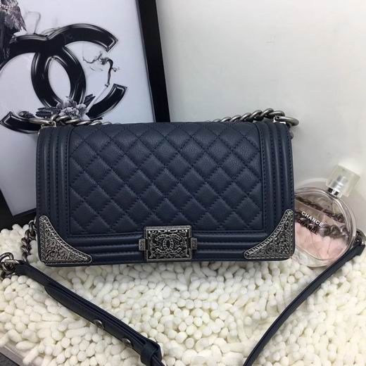 CHANEL 2017 WINTER NEW STYLE BLUE No.A90423