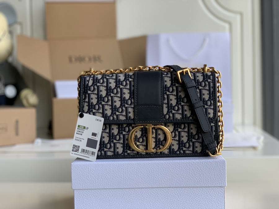 30 MONTAIGNE CHAIN BAG Blue Dior Oblique Jacquard