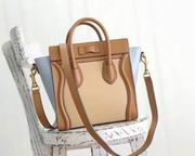 CELINE MICRO LUGGAGE BAG IN  APPRICOT CALFSKIN