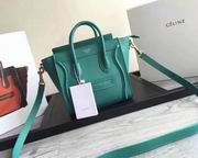 CELINE MICRO LUGGAGE BAG IN GREEN CALFSKIN