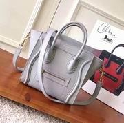 CELINE MICRO LUGGAGE BAG IN LIGHT GRAY CALFSKIN,Handbags,Celine replicas wholesale