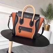 Celine micro luggage bag in natural calfskin black,orange,apricot