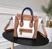 Celine micro luggage bag in natural calfskin blue ,brown,white