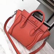 CELINE MICRO LUGGAGE BAG IN ORANGE CALFSKIN,Handbags,Celine replicas wholesale