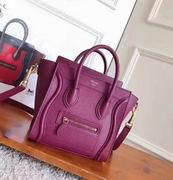 CELINE MICRO LUGGAGE BAG IN PLUM BABY DRUMMED CALFSKIN ,Handbags,Celine replicas wholesale