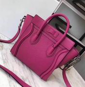 CELINE MICRO LUGGAGE BAG IN ROSE CALFSKIN