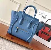 CELINE MICRO LUGGAGE BAG IN SAPPHIRE BLUE CALFSKIN