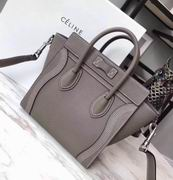 Celine MIMI LUGGAGE BAG IN GRAY SHINY SMOOTH CALFSKIN