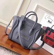 CELINE MINI LUGGAGE BAG IN GRAY CALFSKIN,Handbags,Celine replicas wholesale