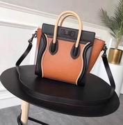 Celine mini luggage bag in natural calfskin black,orange,apricot