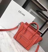 CELINE MINI LUGGAGE BAG IN ORANGE CALFSKIN ,Handbags,Celine replicas wholesale