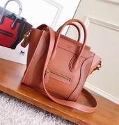 Celine MINI LUGGAGE BAG IN ORANGE SHINY SMOOTH CALFSKIN,Handbags,Celine replicas wholesale