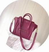 CELINE MINI LUGGAGE BAG IN PLUM BABY DRUMMED CALFSKIN,Handbags,Celine replicas wholesale