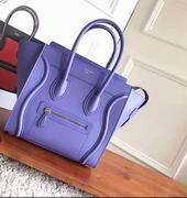 CELINE MINI LUGGAGE BAG IN PURPLE CALFSKIN ,Handbags,Celine replicas wholesale