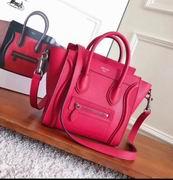 CELINE MINI LUGGAGE BAG IN RED CALFSKIN