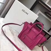 CELINE MINI LUGGAGE BAG IN ROSE CALFSKIN