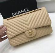 Chanel Classic  handbag in apricot Lambskin A1113,Handbags, replicas wholesale