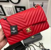 Chanel Classic  handbag in red Lambskin A1113,Handbags, replicas wholesale