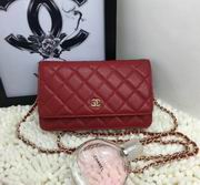 Chanel woc handbag in red with gold metal  A33814,Handbags,Chanel replicas wholesale