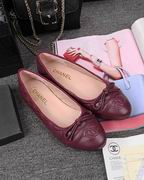 Chanel laminated lambskin ballerinas wine ,Women Shoes,Chanel replicas wholesale