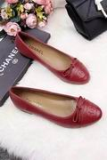 Chanel Lizard  calf leather ballerinas falts wine ,Women Shoes,Chanel replicas wholesale