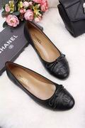 Chanel Lizard  calf leather ballerinas` falts black,Women Shoes,Chanel replicas wholesale