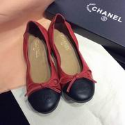 Chanel sheep skin flats red,Women Shoes,Chanel replicas wholesale