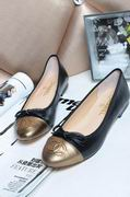 Chanel sheepskin ballerinas  black & gold ,Women Shoes,Chanel replicas wholesale