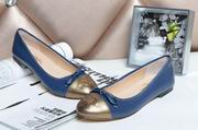 Chanel sheepskin ballerinas blue & gold ,Women Shoes, replicas wholesale