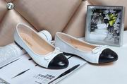 Chanel sheepskin ballerinas white & black,Women Shoes, replicas wholesale