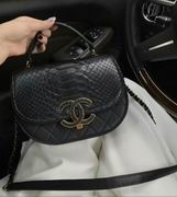 Chanel messenger in black snakeskin,Handbags, replicas wholesale
